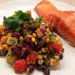 Eat Fit Not Fat- Black Bean and Smoked Mozzarella Summer Salad